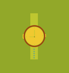 hand watch icon wristwatch - clock symbol clock vector image