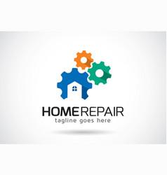Home repair logo template design emblem design vector