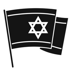 Israel flag icon simple style vector