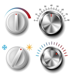 knob set vector image