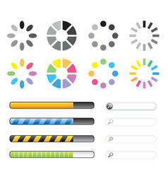Loading and buffering icon set vector