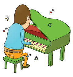 Man Playing piano vector