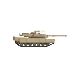 massive military tank with big cannon isolated vector image