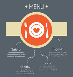 Menu template for helthy restaurant infographics vector
