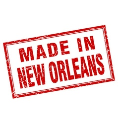 New Orleans red square grunge made in stamp vector