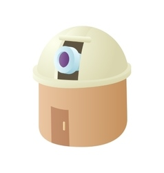 Observatory station icon cartoon style vector