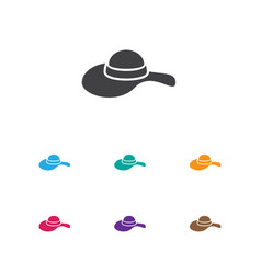 of air symbol on hat icon vector image