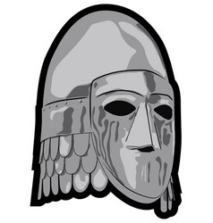 old slavic helmet vector image