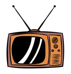 Old tv icon cartoon vector