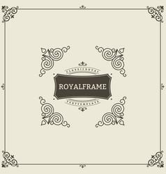 ornament design invitation template vector image vector image