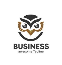 owl logo in modern colorful logo design vector image
