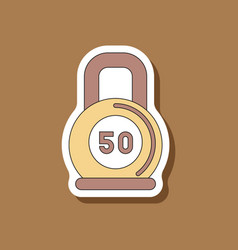 Paper sticker on stylish background weight vector