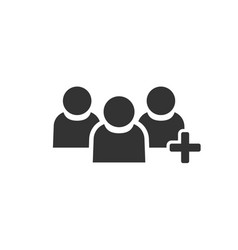 people communication user profile icon in flat vector image