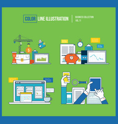 planning financial strategy project management vector image