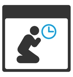 Pray Clock Calendar Page Toolbar Icon vector