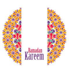 Ramadan kareem islamic pattern background vector