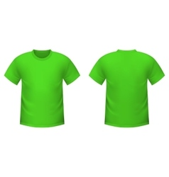 Realistic green t-shirt vector