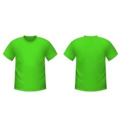 Realistic green t-shirt vector image