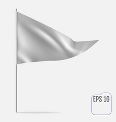 realistic pennant template triangle flag mockup vector image