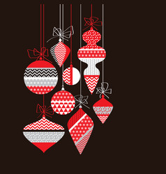 red and black bauble retro design element vector image