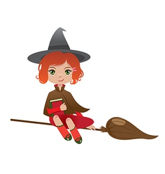 redhair witch vector image