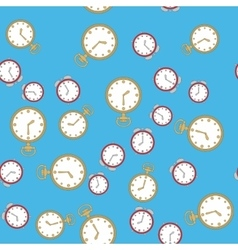 Seamless pattern with watches 567 vector image