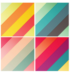 Set of retro stripe diagonal pattern with stylish vector