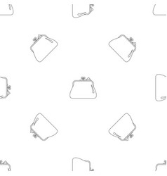 small wallet pattern seamless vector image