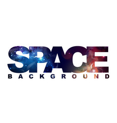 Space sign with space background inside abstract vector