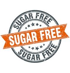 Sugar free round orange grungy vintage isolated vector