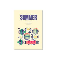 summer poster trendy seasonal background for vector image