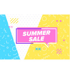 Summer sale in design banner template for vector