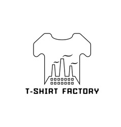 T-shirt factory negative space concept vector