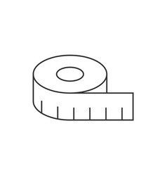 Tape measurement line icon on white background vector