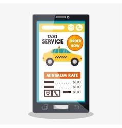 taxi cab service online smartphone vector image