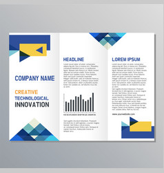 template design for brochure vector image