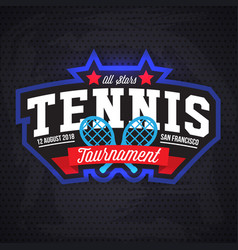 Tennis logo badge design templat vector