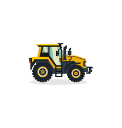 tractor commercial vehicles agro-industrial vector image