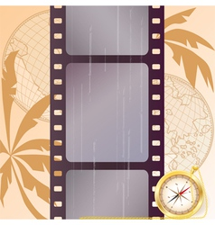 travel film strip vector image