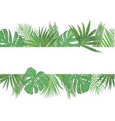 Tropical banner frame wedding invitation label vector