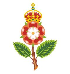 Tudor rose royal bage of england vector