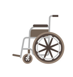 wheelchair flat vector image