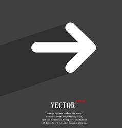 Arrow right next icon symbol flat modern web vector