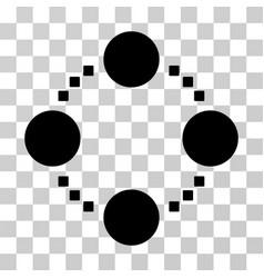 circular relations icon vector image