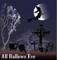 hallows eve vector image
