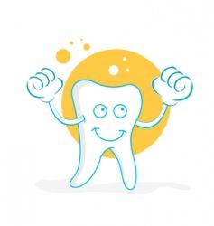 happy teeth vector image vector image