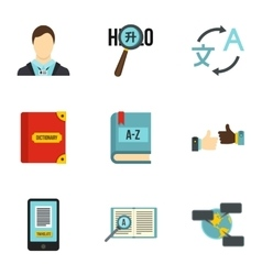 Languages icons set flat style vector image vector image