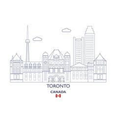 toronto city skyline vector image