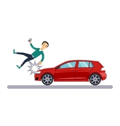 Car and Transportation Issue with a Pedestrian vector image vector image