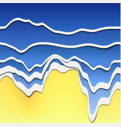 papercut wave 05 vector image